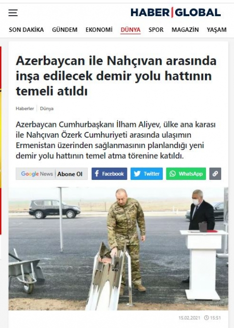Turkish media highlight President Ilham Aliyev's visit to liberated territories