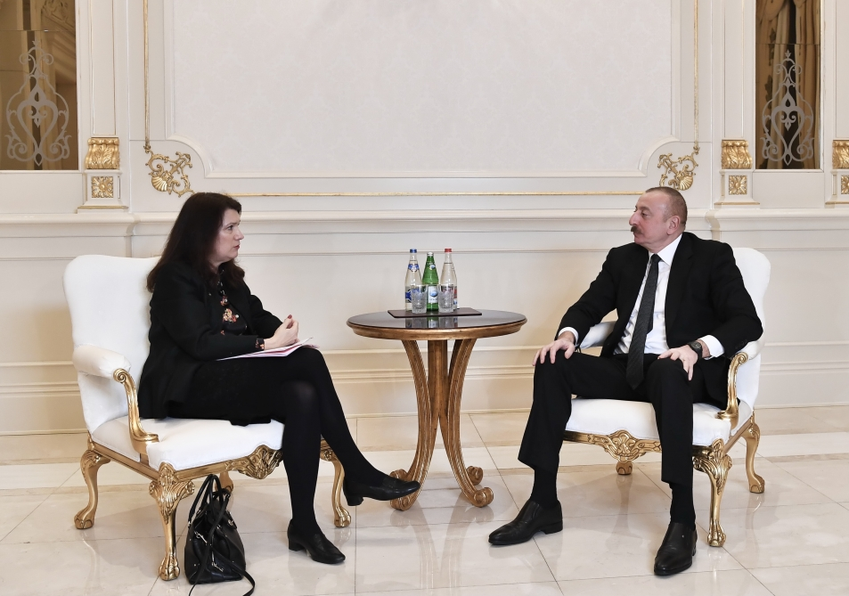 President Ilham Aliyev received delegation led by OSCE Chairperson-in-Office VIDEO