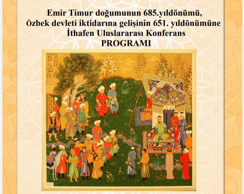 Akademik Yaqub Mahmudov Əmir Teymurun 685 illiyinə həsr olunmuş beynəlxalq konfransda məruzə edib