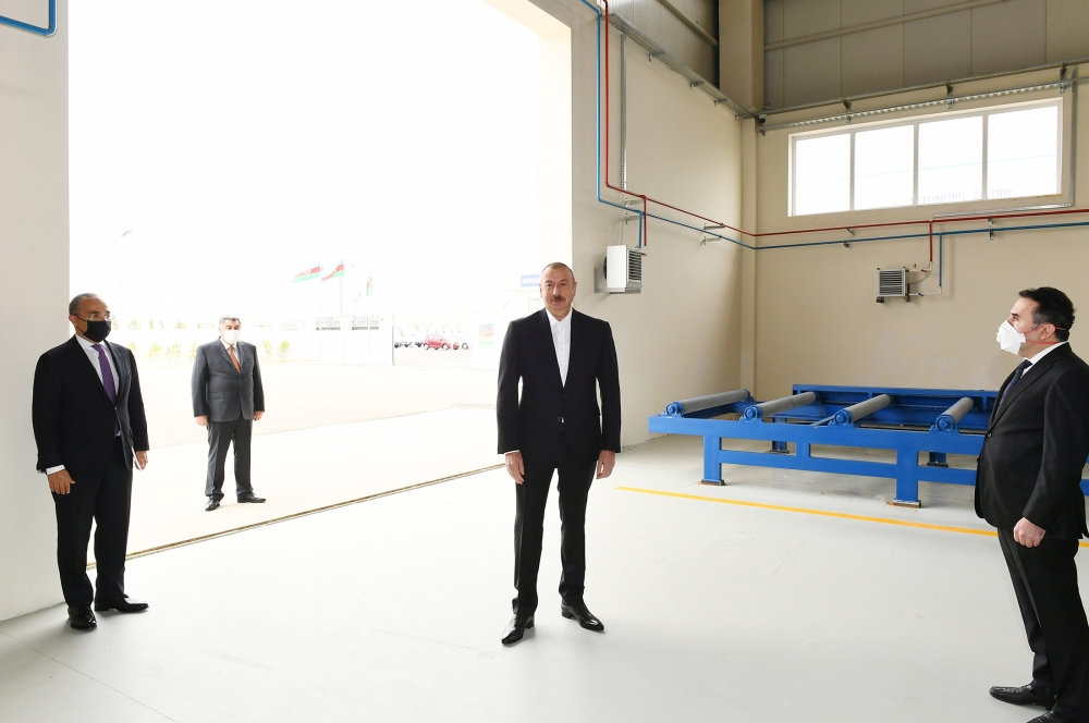 President Ilham Aliyev attended inauguration of Hajigabul Industrial Estate VIDEO