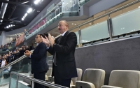 Azerbaijan won opener at 2017 CEV Volleyball European Championship – Women  President Ilham Aliyev watched national team`s game