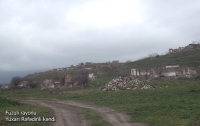 Azerbaijan's Defense Ministry releases video footages of Yukhari Rafadinli village, Fuzuli district