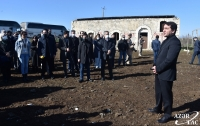 Representatives of diplomatic corps and military attaches visit liberated Merdinli village, Fuzuli district